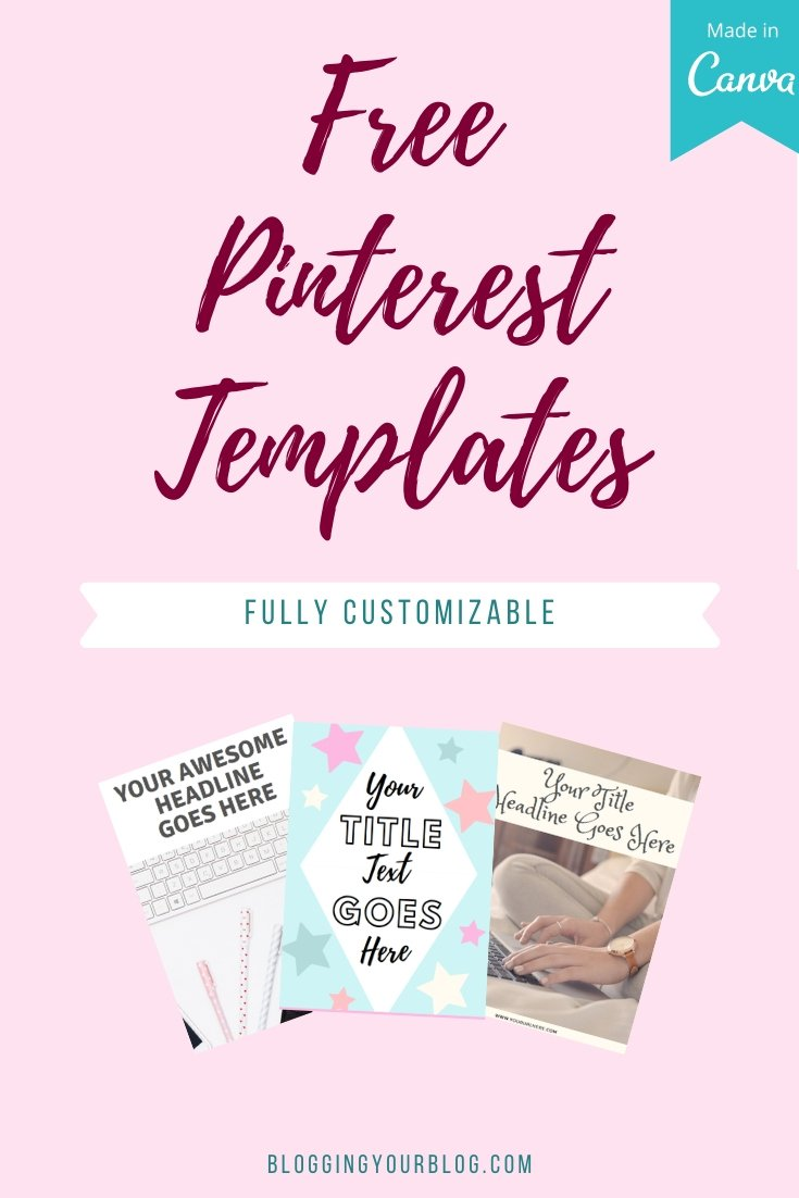 Free Pinterest Templates - Fully Customizable in Canva