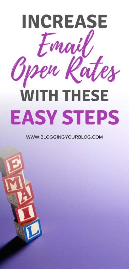 Do you wish more of your mailing list subscribers opened your emails more often? In this blog post find out how to increase email open rates for your email list with easy to use steps. Get more conversions from your subscribers by getting higher email open rates. #emailmarketing #newslettertips #email #marketing #marketingtips #bloggingyourblog